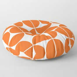 Mid Century Modern Geometric 04 Orange Floor Pillow