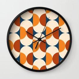 60s Beans Pattern Wall Clock