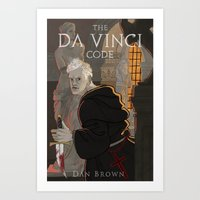 da vinci Art Prints featuring Da Vinci Code by Meen Choi