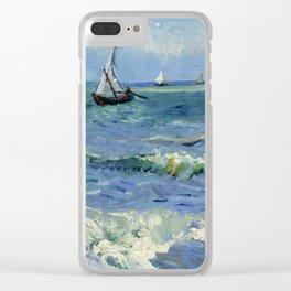 """Vincent Van Gogh """"The Sea at Les Saintes-Maries-de-la-Mer"""" Clear iPhone Case"""