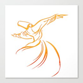 Sema The Dance Of The Whirling Dervish Canvas Print