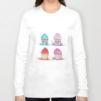 cupcakes Long Sleeve T-shirts featuring Cupcakes  by Olive Coleman