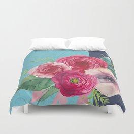 Pink Bouquet II Duvet Cover