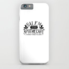 Funny Salem Apothecary Potions Toxin Elixirs Witch Halloween Gifts iPhone Case