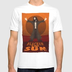 Blacken the Sun Mens Fitted Tee White MEDIUM