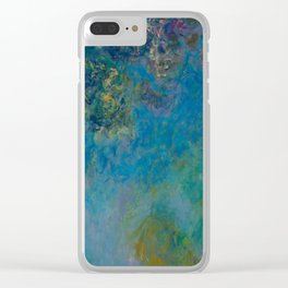 Claude Monet Wisteria Clear iPhone Case