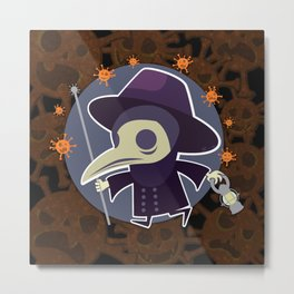 Plague-O-Ween Metal Print