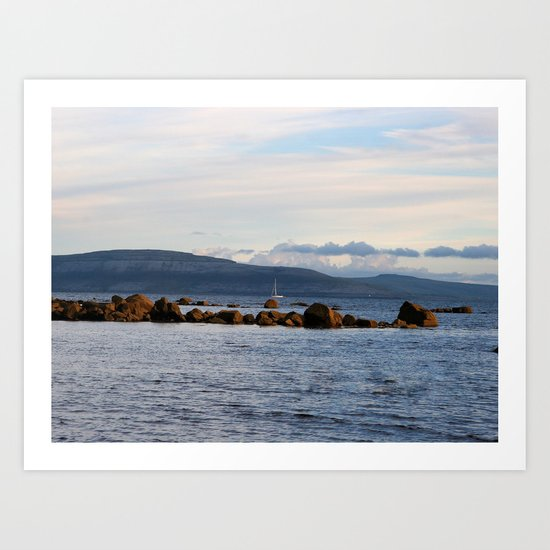 Sail Away On Galway Bay - Ireland Ocean Landscape - Blue Art Print
