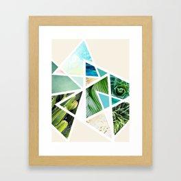 Triangular nature Framed Art Print