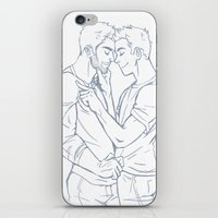sterek iPhone & iPod Skins featuring Fond - Sterek by ArtofObsession
