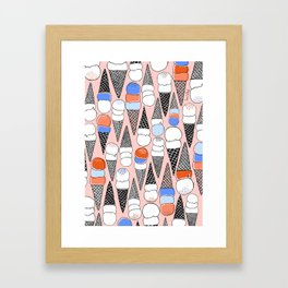 We All Scream, for ICE CREAM!!! Framed Art Print