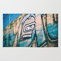 bender Area & Throw Rugs featuring Bender Bending Rodriguez by grafik ' prod