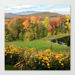 Vermont Foliage Watercolor Canvas Print