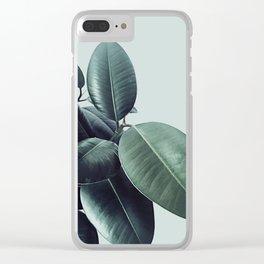 Ficus Elastica #22 #LightGreen #foliage #decor #art #society6 Clear iPhone Case