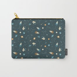 Lil Astronaut Pattern (8bit) Carry-All Pouch