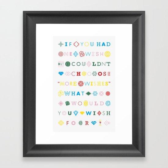 One Wish Framed Art Print