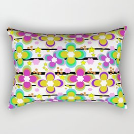 Bright abstract floral pattern. Stripe . Rectangular Pillow
