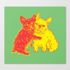 <3 Doggies Canvas Print