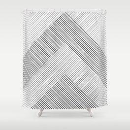 Stripe Geometric Mountain Shower Curtain