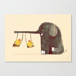 Elephant Swing Canvas Print