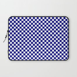Large Australian Flag Blue and White Check  Checkerboard Laptop Sleeve