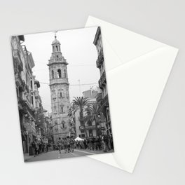 Black White Architecture in Valencia Stationery Cards