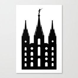 Mormon Style Temple Canvas Print
