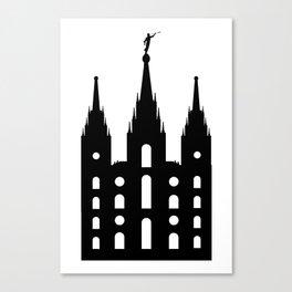 Mormon Style Temple Canvas Print