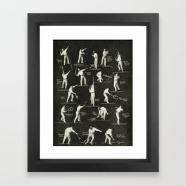 gentlemen prefer tennis Framed Art Print