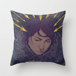 Frightened Eyes Throw Pillow