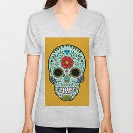 Colorful Skull V Unisex V-Neck