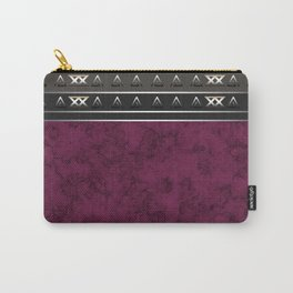 Marble . Combined abstract pattern. Burgundy marble . Carry-All Pouch