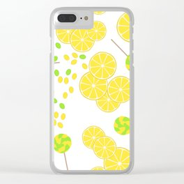 Candy sweets of lemon lollypops Clear iPhone Case
