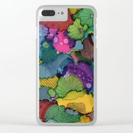 Super doodle Clear iPhone Case