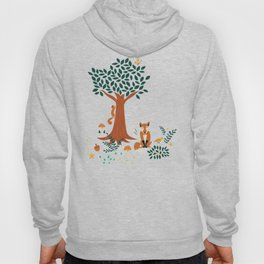 Foxes Playing in the Emerald Forest Hoody