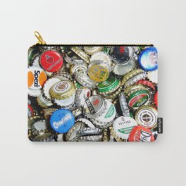 Bottle Caps Painting | Vintage Carry-All Pouch