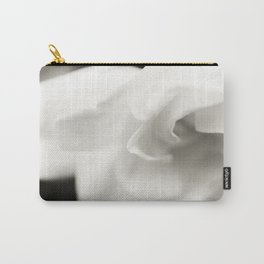 Black and White Gardenia Carry-All Pouch