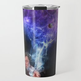 Elon Musk Smoking the Universe Travel Mug