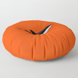 Bright Fluorescent Shark Attack Orange Neon Floor Pillow