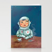 spaceman Stationery Cards featuring Spaceman by Milena Milak
