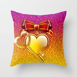 Open your heart Throw Pillow