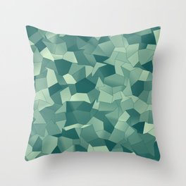 Geometric Shapes Fragments Pattern gr Throw Pillow