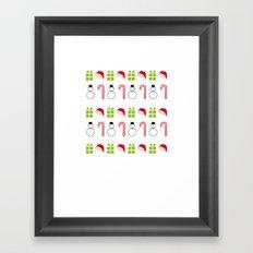Christmas Icons Framed Art Print