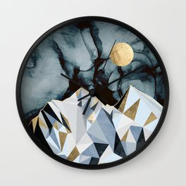 Midnight Peaks Wall Clock