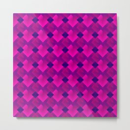 Fashionable large plaids from small pink intersecting squares in a dark cage Metal Print