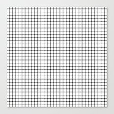 Dotted Grid Canvas Print