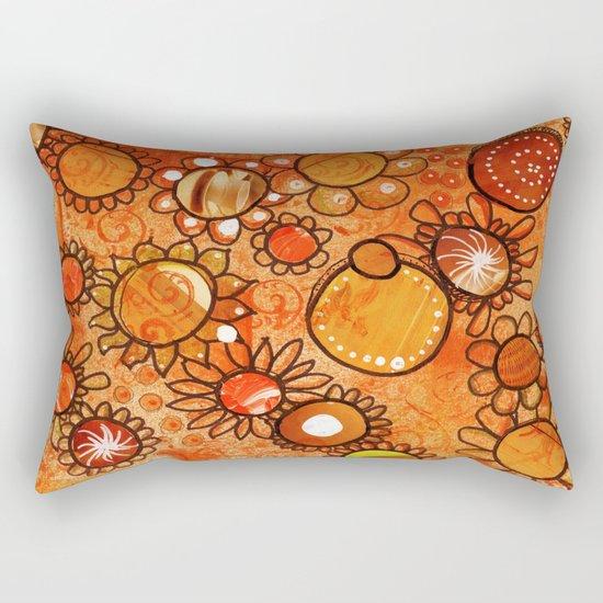 orange, yes Rectangular Pillow