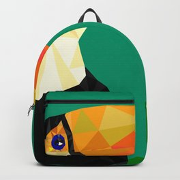 Toucan Bird artwork Geometric Tropical birds Brazil Backpack
