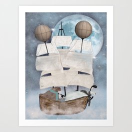 an arctic adventure Art Print