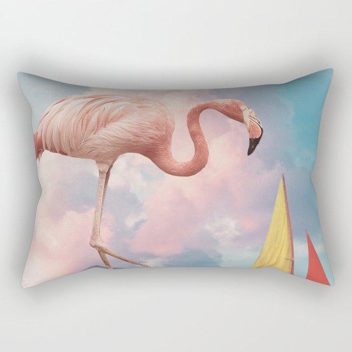 Flamingo Playground Rectangular Pillow